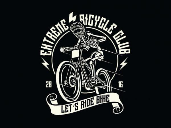 Let's Ride Bike t shirt design