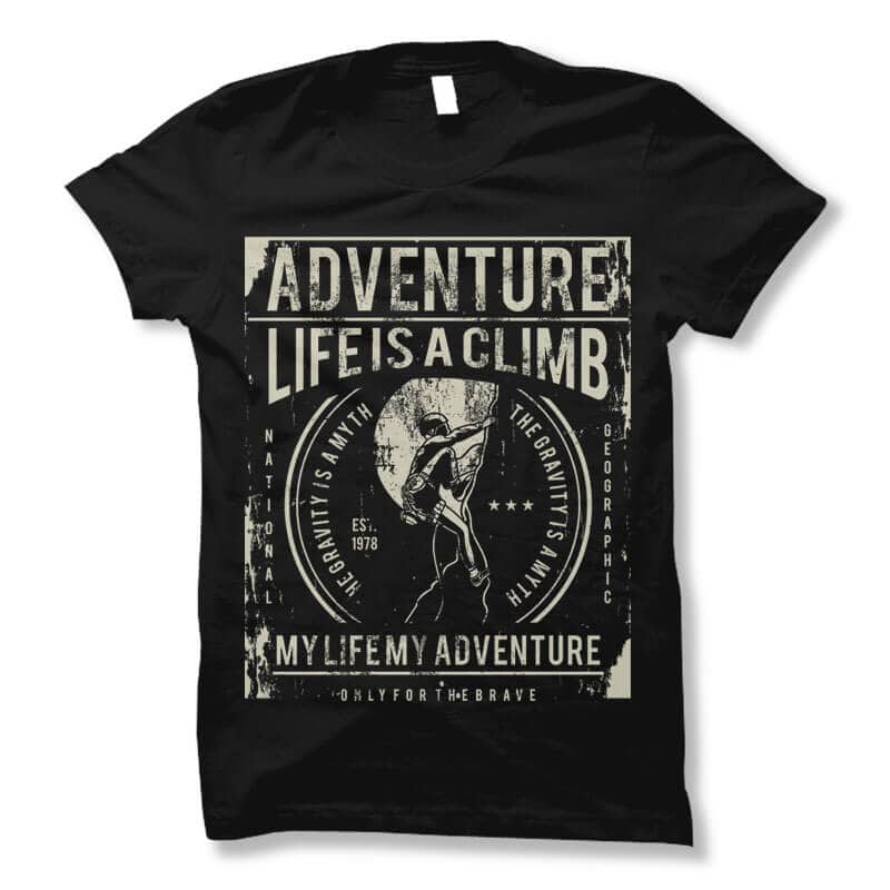 Life Is A Climb t shirt design tshirt design for sale
