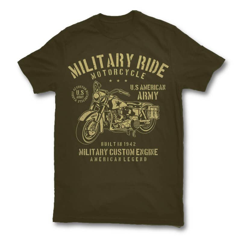 Military Ride t shirt design t shirt design graphic