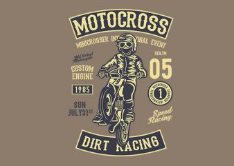 Moto Cross t shirt design