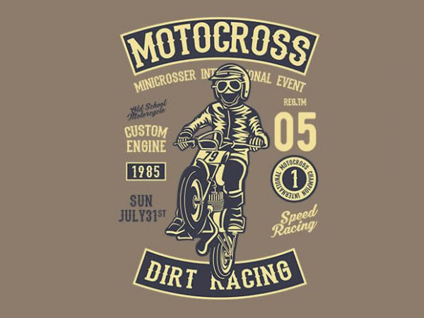 Moto Cross 600x450 - Moto Cross t shirt design buy t shirt design