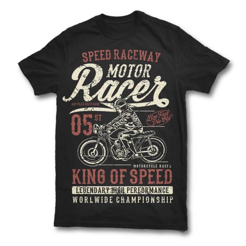 Motor Racer t shirt design t shirt design graphic