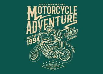 Motorcycle Adventure t shirt design