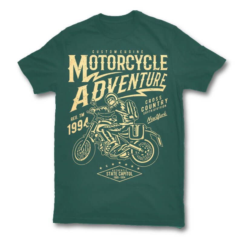 Motorcycle Adventure t shirt design t shirt design graphic
