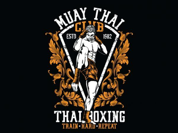 Muay Thai Club vector t-shirt design for commercial use