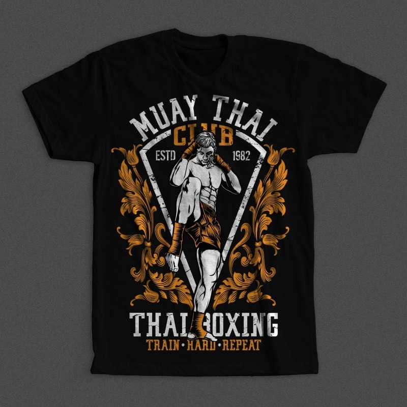 Muay Thai Club t shirt designs for teespring