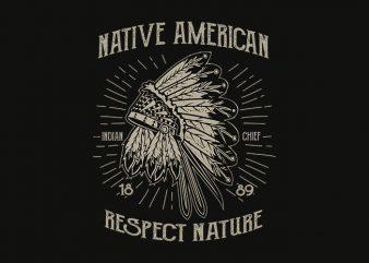 Native American 1 t shirt design