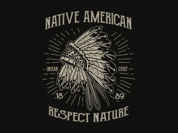 Native American 600x450 - Native American 1 t shirt design buy t shirt design