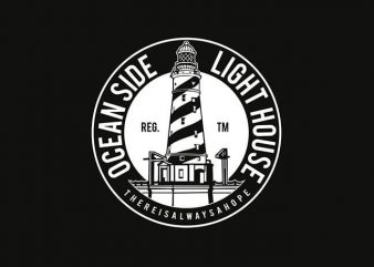 Ocean Side Light House t shirt design