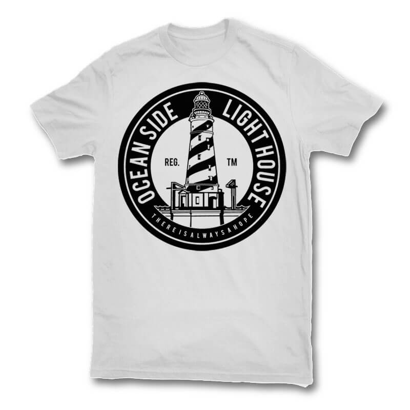 Ocean Side Light House t shirt design tshirt factory