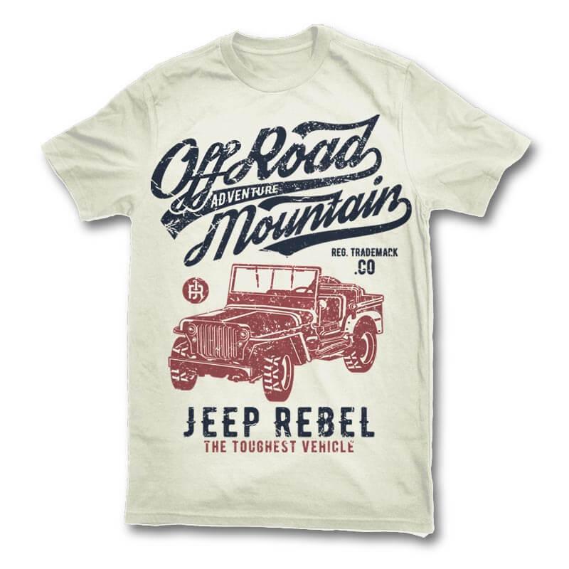 Off Road Jeep t shirt design buy tshirt design