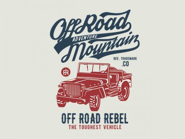 Off Road Jeep t shirt design