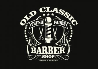 Old Classic Barber t shirt design