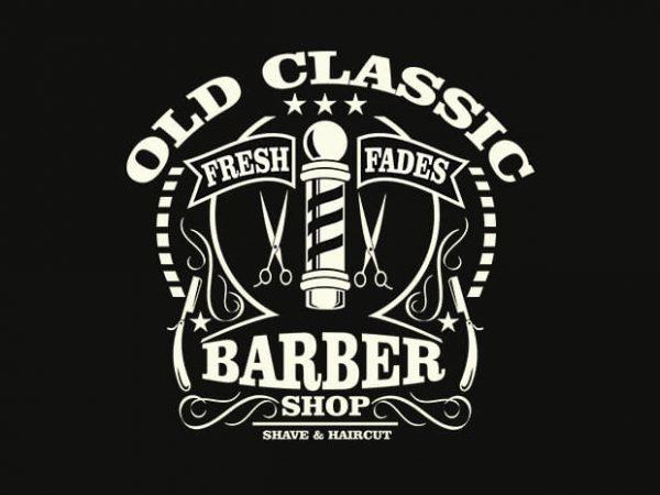 Old Classic Barber t shirt design