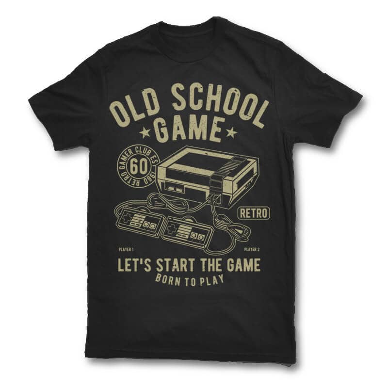 Old school game t shirt design buy t shirt designs for T shirt design game