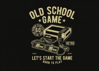 Old School Game t shirt design