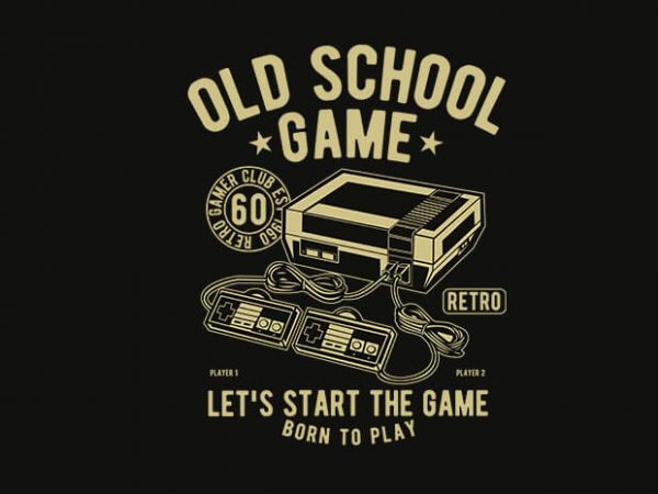 Old School Game 600x450 - Old School Game t shirt design buy t shirt design