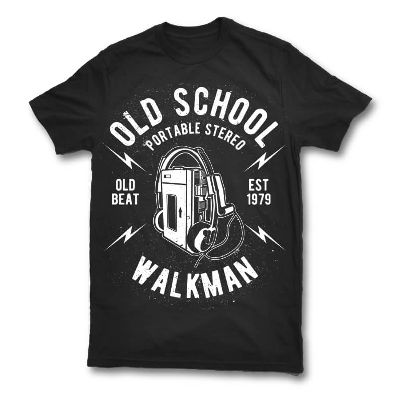 Old School Walkman t shirt design buy t shirt design