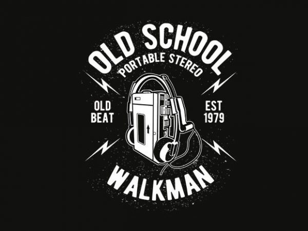 Old School Walkman t shirt design