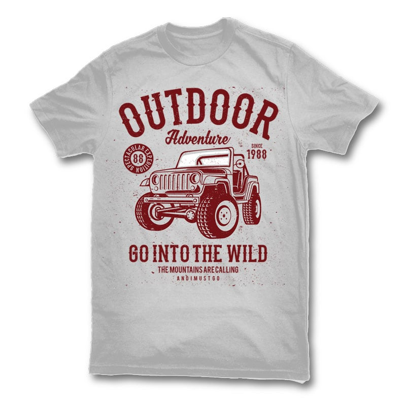 Outdoor Adventure 2 t shirt design buy t shirt design