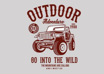 Outdoor Adventure 2 t shirt design