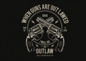 Outlaw t shirt design