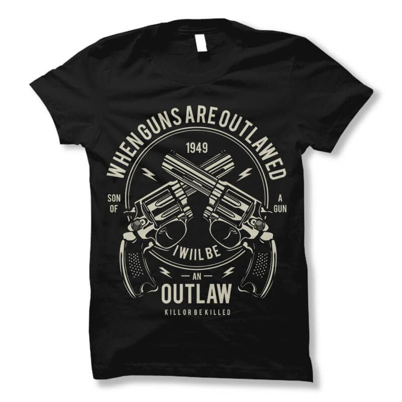 Outlaw t shirt design buy tshirt design