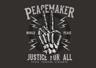 Peace Maker t shirt design