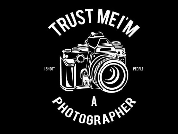 Photographer tshirt design