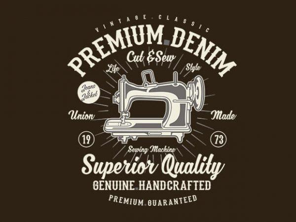 Premium Denim tshirt design