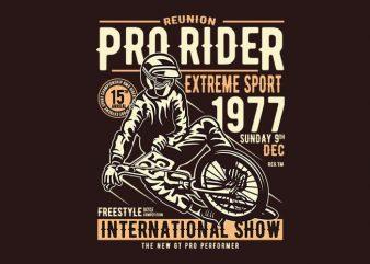 Pro Rider tshirt design