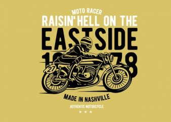 Raisin Hell Moto Racer t shirt design online