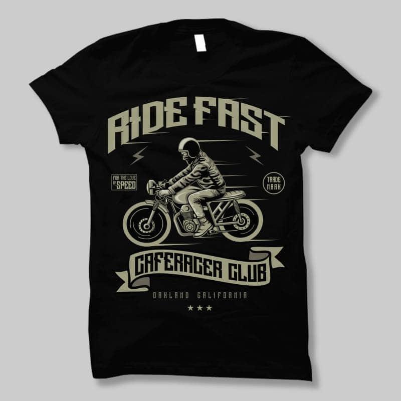 Ride Fast tshirt design t shirt designs for sale