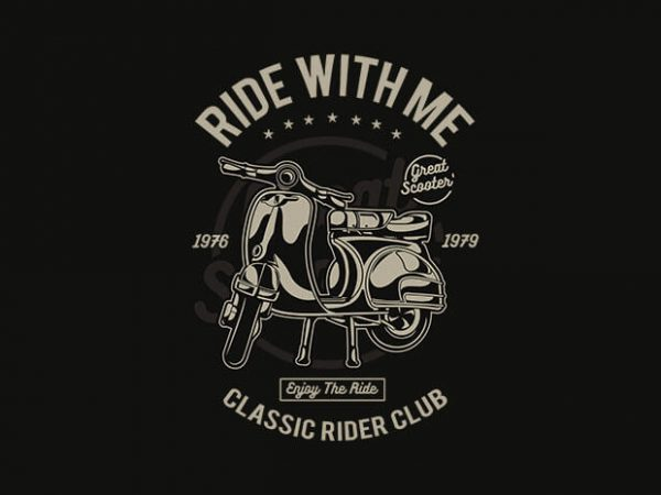 Ride With Me tshirt design