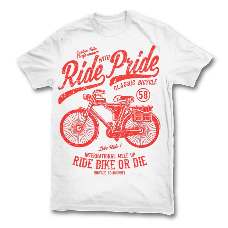 Ride With Pride tshirt design commercial use t shirt designs