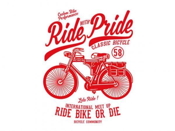 Ride With Pride tshirt design
