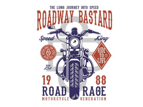 Roadway Bastard tshirt design