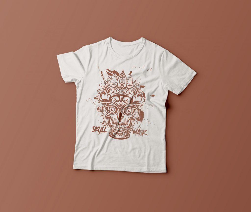 Skull Mask Ornaments vector shirt designs
