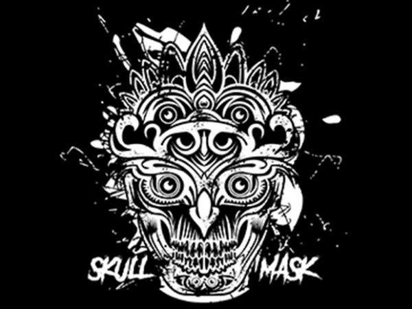 skull mask btd 600x450 - Skull Mask Ornaments buy t shirt design
