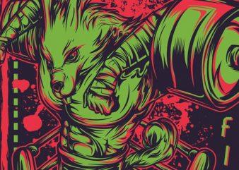 K.O Fight t shirt vector art
