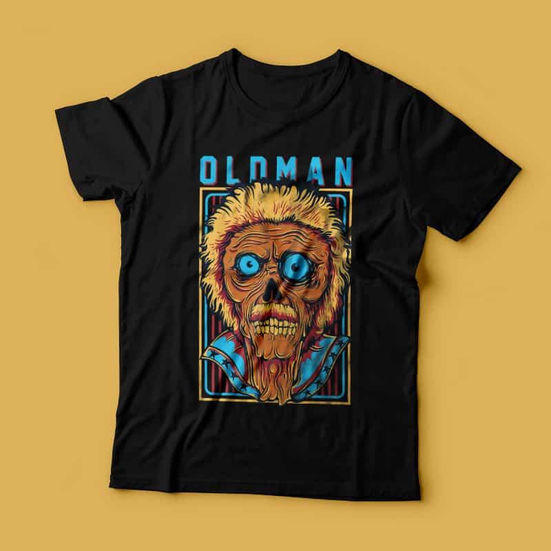 Old Man vector shirt designs