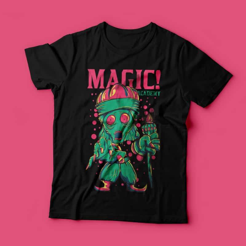 Magic Academy vector shirt designs