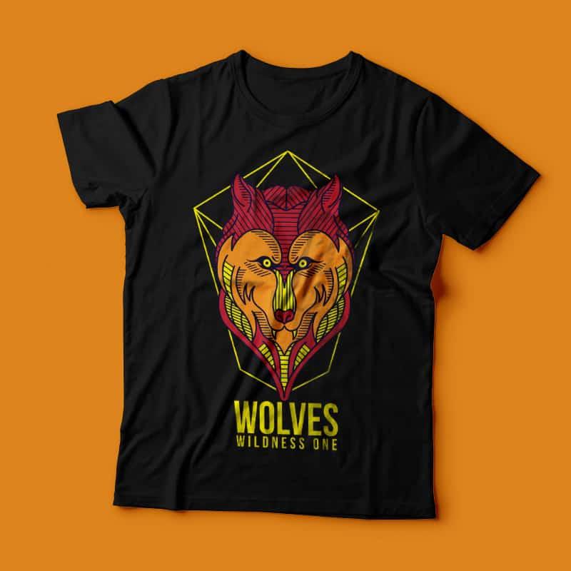 Wild Wolves buy tshirt design