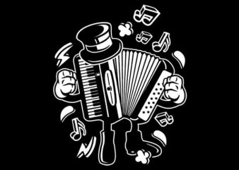 Accordion t shirt vector