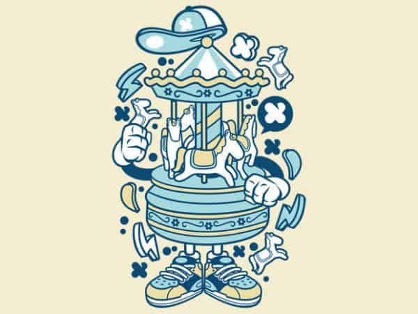 Carousel t shirt vector file