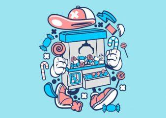 Crane Machine tshirt design vector