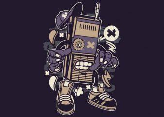 Dead Walkie t shirt vector illustration