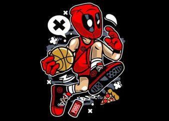 Deadpool Basketball vector t shirt design artwork