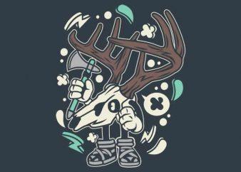 Deer Skull t shirt vector illustration