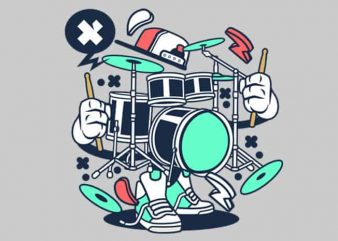 Drum Set vector t-shirt design for commercial use